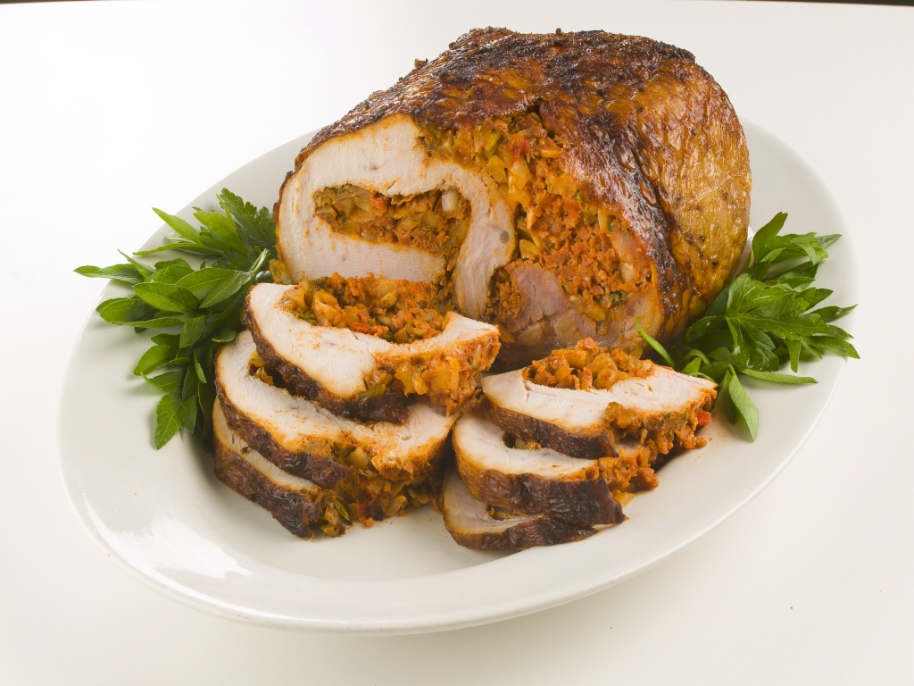Turducken Fried Turkey Cajun Meat Ham Stuffed Pork Chop